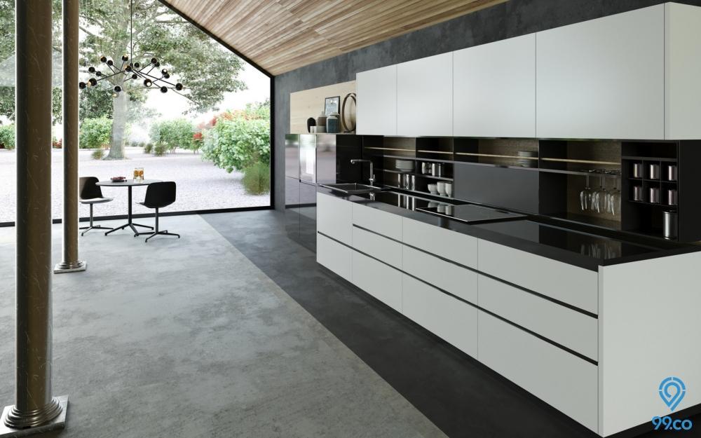 desain dapur terbuka sederhana