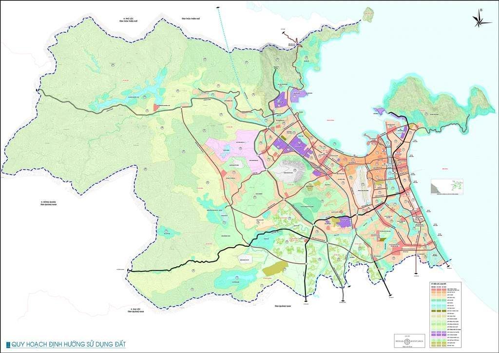 Bản đồ quy hoạch định hướng sử dụng đất