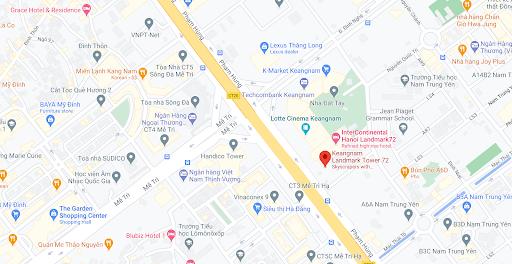 Địa điểm đón/trả khách tại Hà Nội - Tòa nhà Keangnam