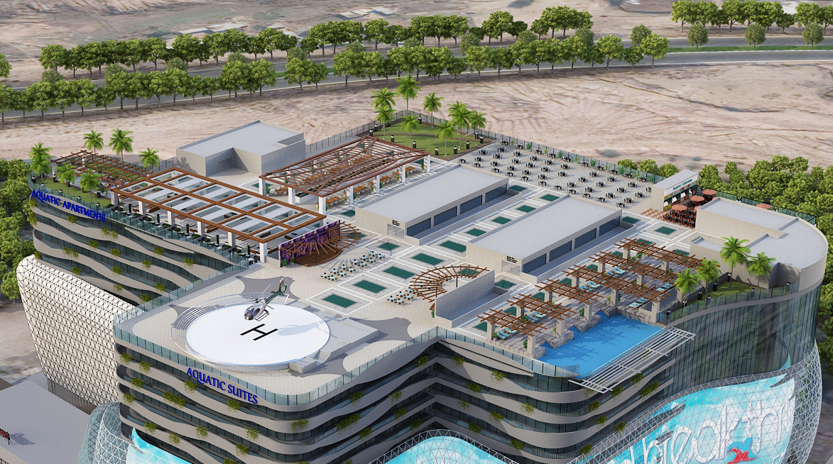 Aquatic-mall-rooftop-helipad