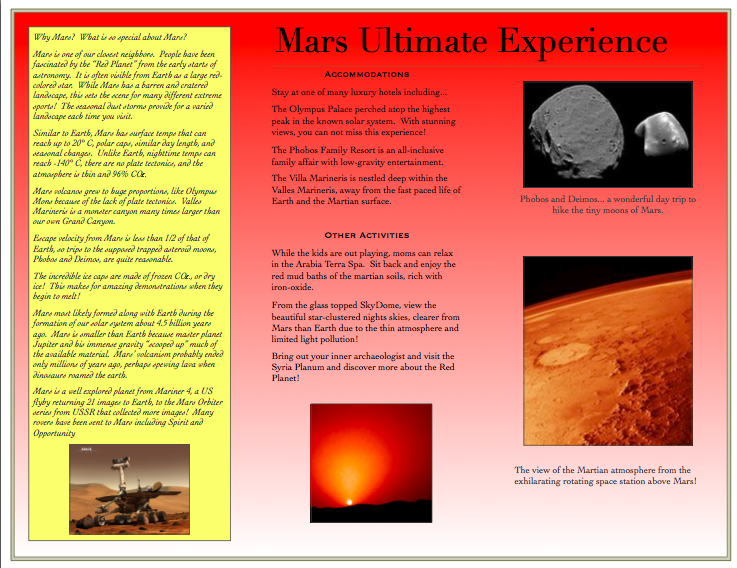 Planet Jupiter Brochure Example - Pics about space