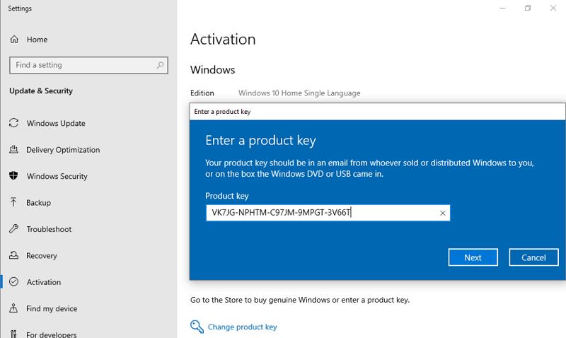 مفتاح ترقية Windows-10-Pro