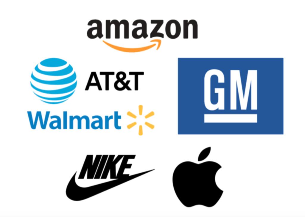 exemplo de logos mais famosos do mundo