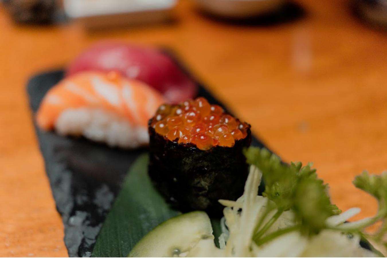 restaurante comida japonesa, nigiris