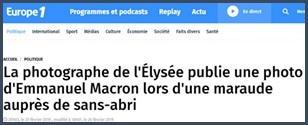 Macron - sans-abri
