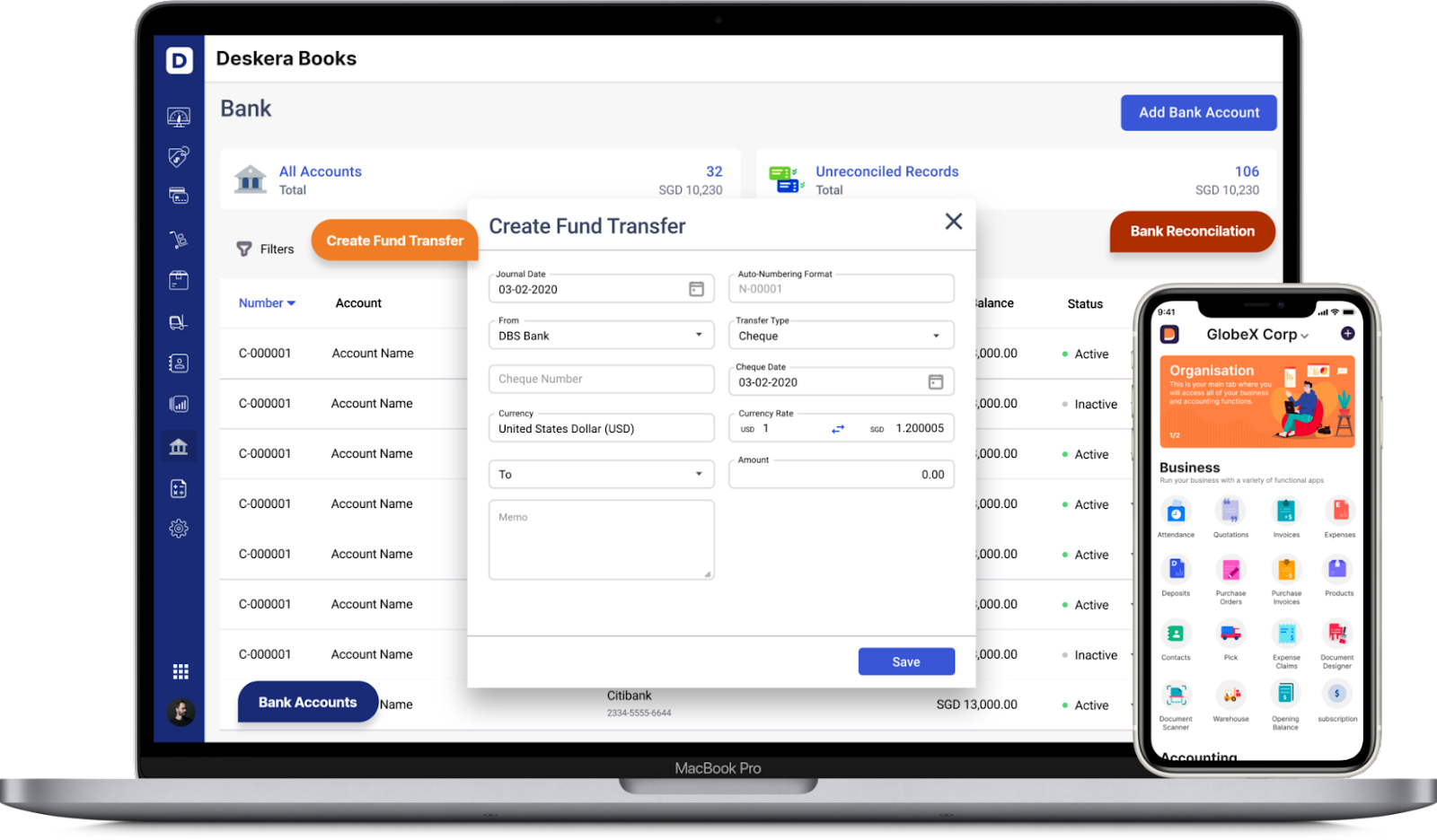 Direct Bank Account Integration with Deskera- Cash Accounting