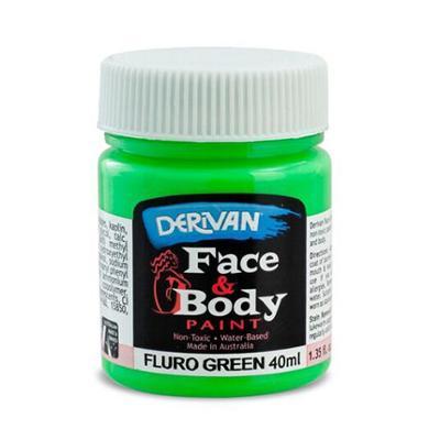 Discount Party Supplies Derivan Face & Body Paint - Fluro Green - 40ml