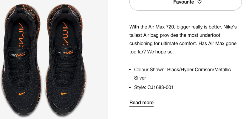 Nike AirMax Trainers Product Description