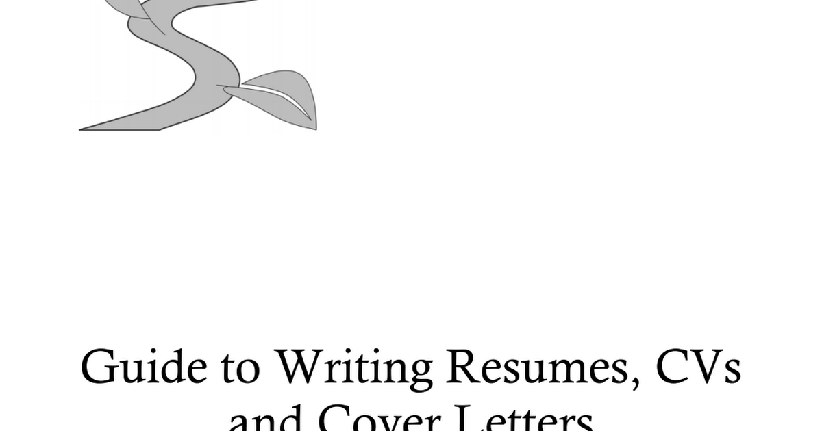Guide to Writing Resumes, CVs and Cover Letters.pdf   Google Drive