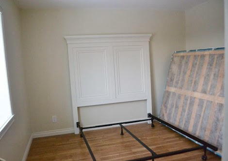 And Then Attached A Bed Frame To The Headboard Mom Had Boxspring With How Little Room Is We Opted Not Do Footboard Or Full Wood