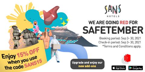 Get 15% off at Sans Hotel at Berrie Suites. Use code: SANS15
