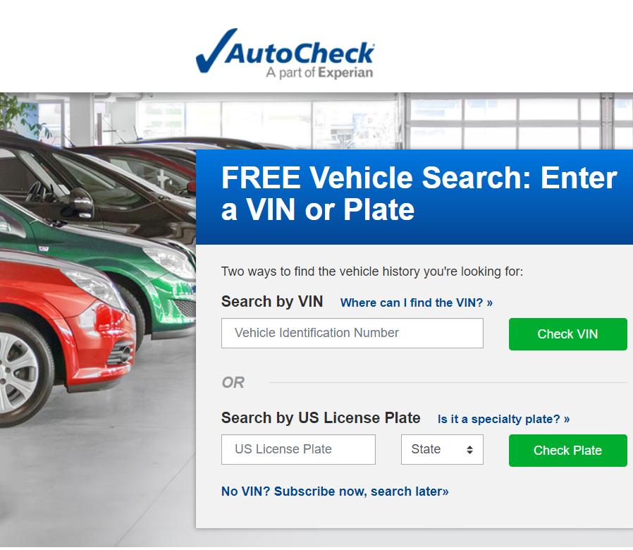 Проверка автомобиля по VIN на AutoCheck