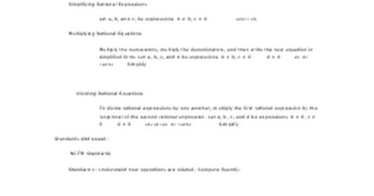 84 Multiply and Divide Rational Expressionsdocx Google Docs – Dividing Rational Expressions Worksheet