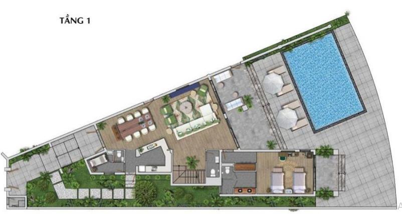 Mặt bằng của dự án được thiết kế theo từng khu riêng biệt