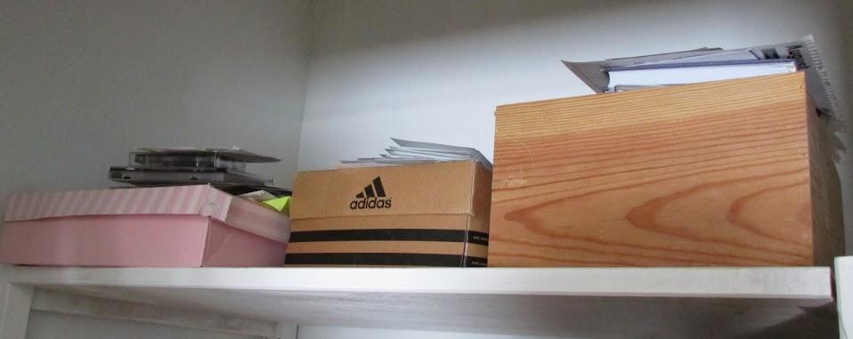 Shelf of mementos to deal with