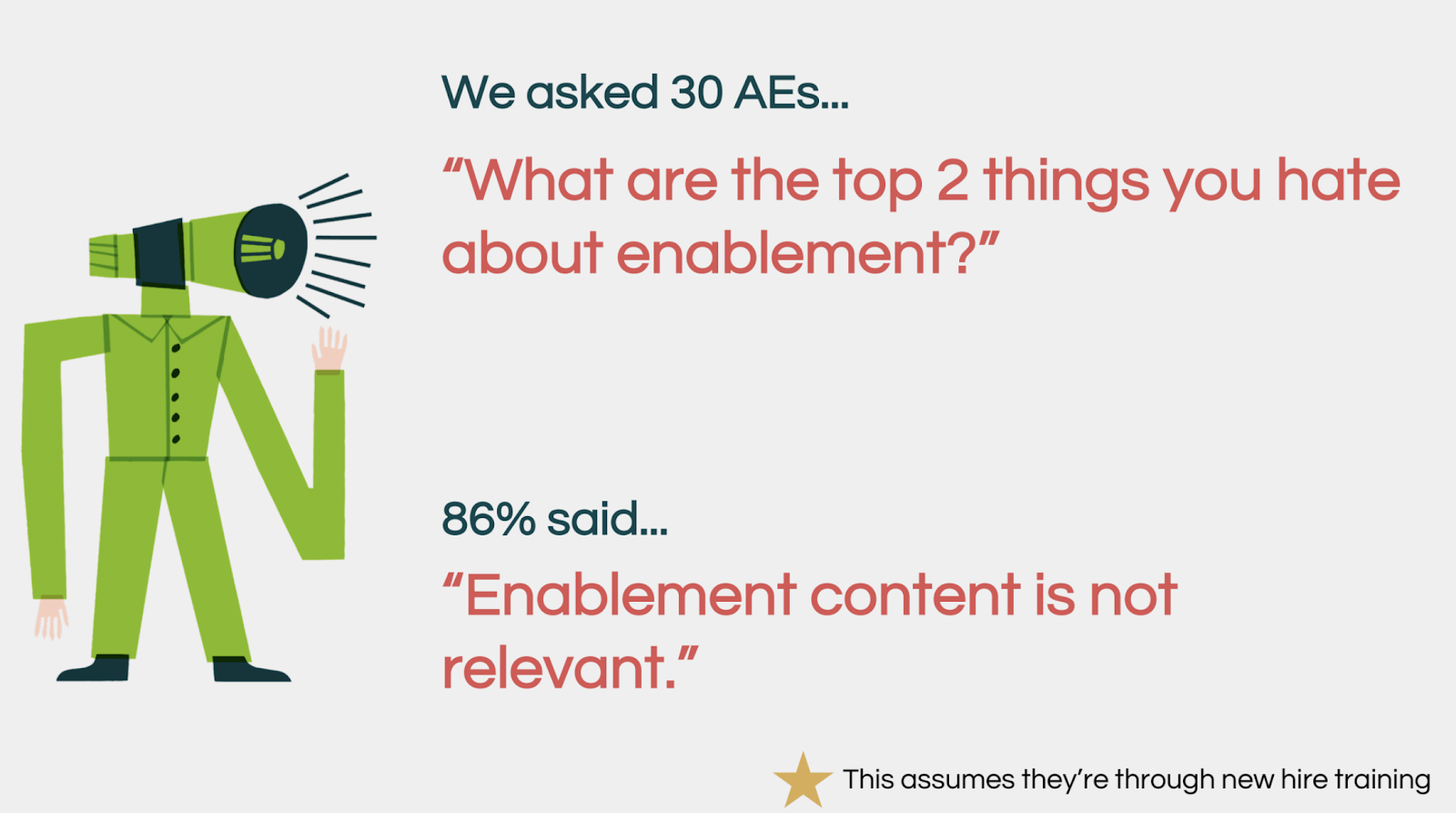 what are the top 2 things you have about enablement?