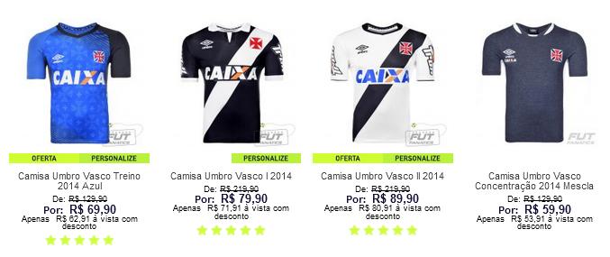 Camisa do Vasco campeão carioca
