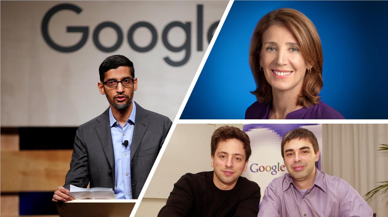 Alphabet Inc. Management Sundar Pichai Ruth Porat Sergey Brin Larry Page
