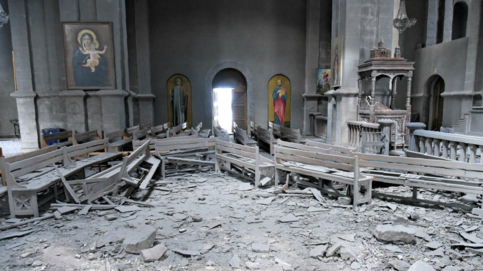 Symbolic Armenian Church Shelled in Clashes with Azerbaijan