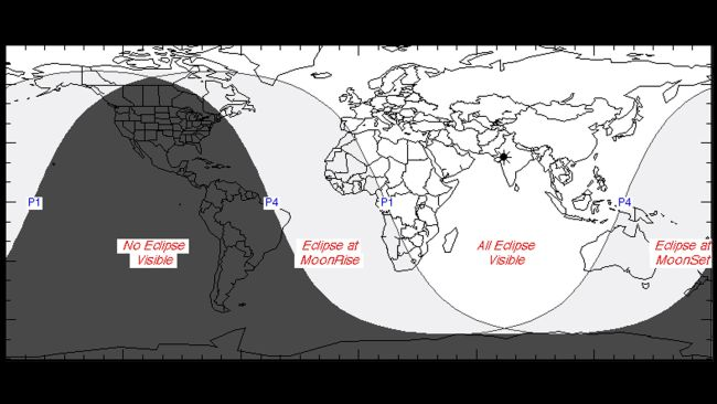 місячне затемнення по версіі наса