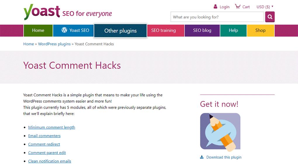 plugin de comentários do wordpress yoast comment hacks