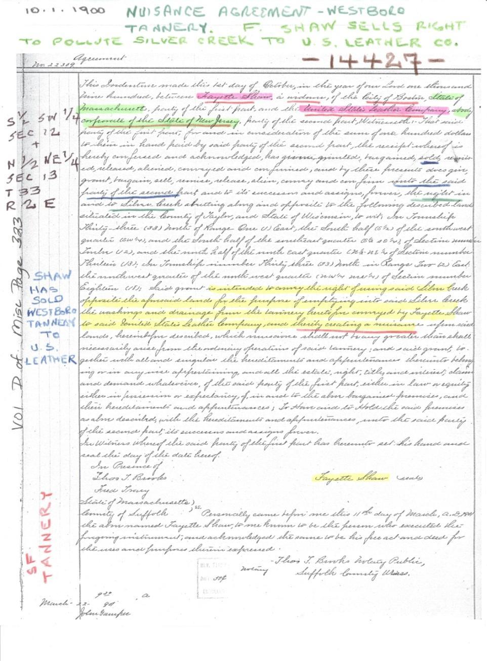 C:\Users\Robert P. Rusch\Desktop\II. RLHSoc\Documents & Photos-Scanned\Rib Lake History 14400-14499\14427-10-1-1900 nuisance agreement for Westboro Tannery.jpg