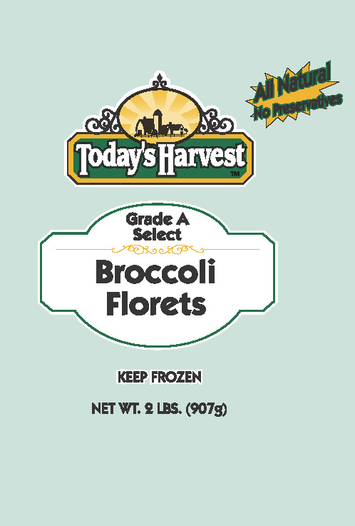 Today's Harvest Broccoli Florets, 2 LBS