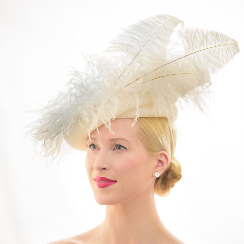 One of Sandy Aslett's creations at the Brisbane Millinery Fair