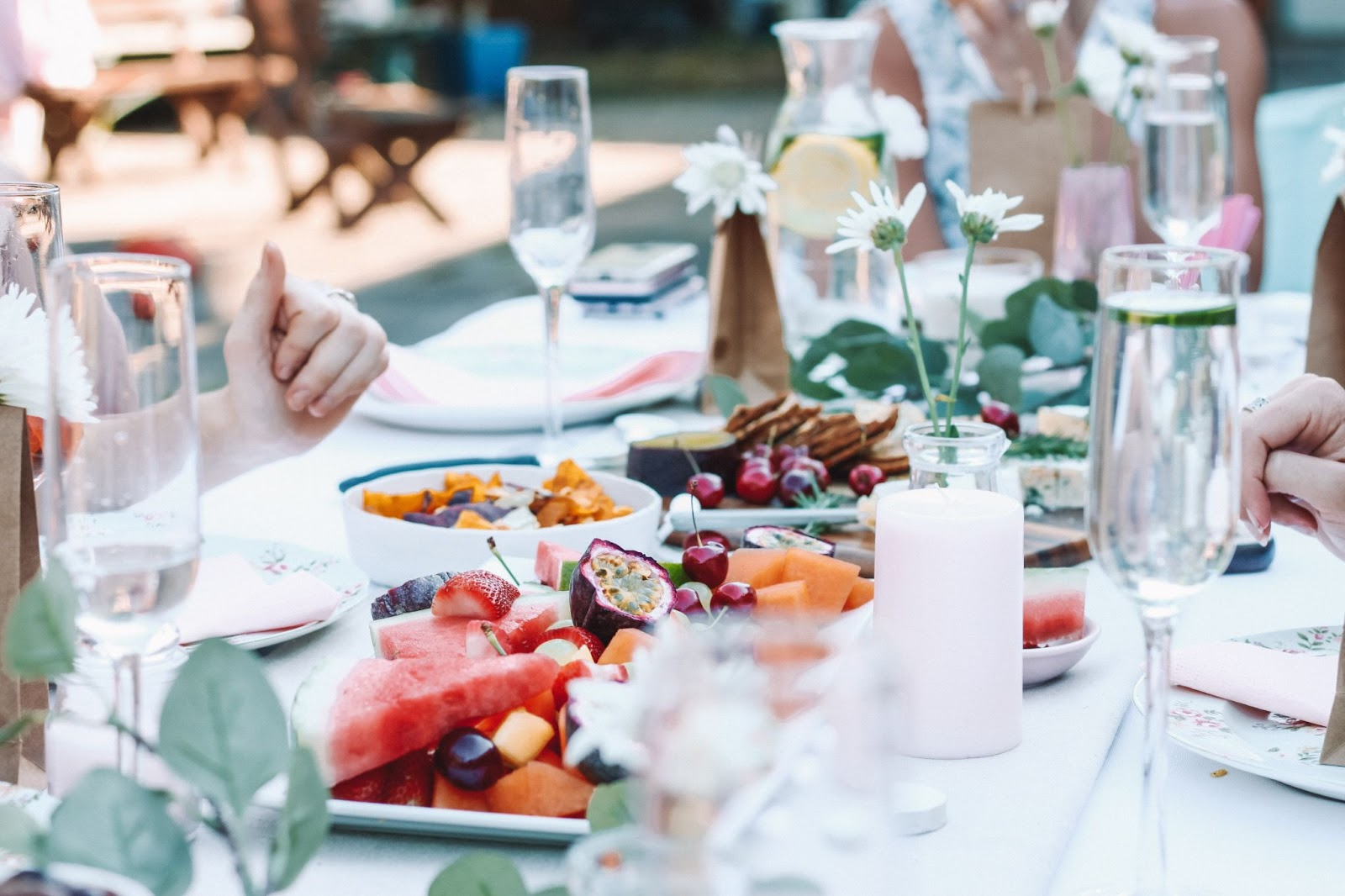 A table with food