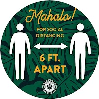 "9"" Green Circle - 6 Feet Apart"