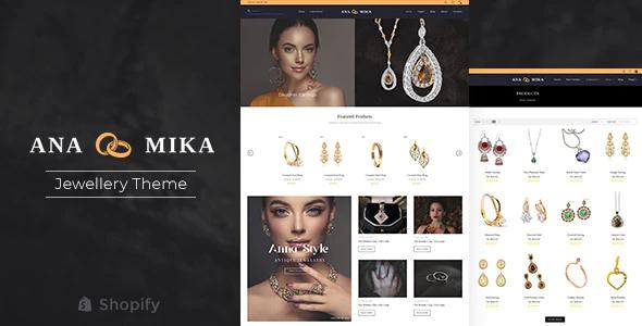 Shopify jewelry themes Anamika