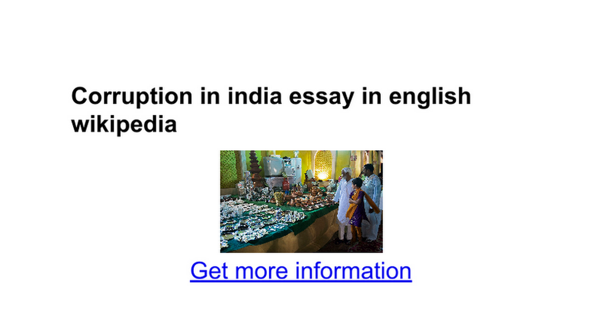 essay on corruption in only hindi not english language