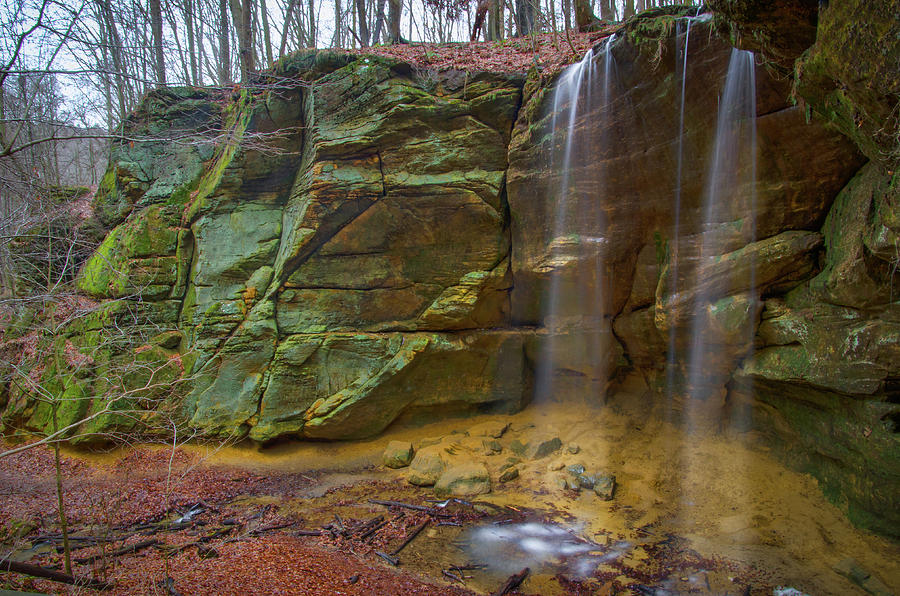 beautiful waterfall at Mohican State Park