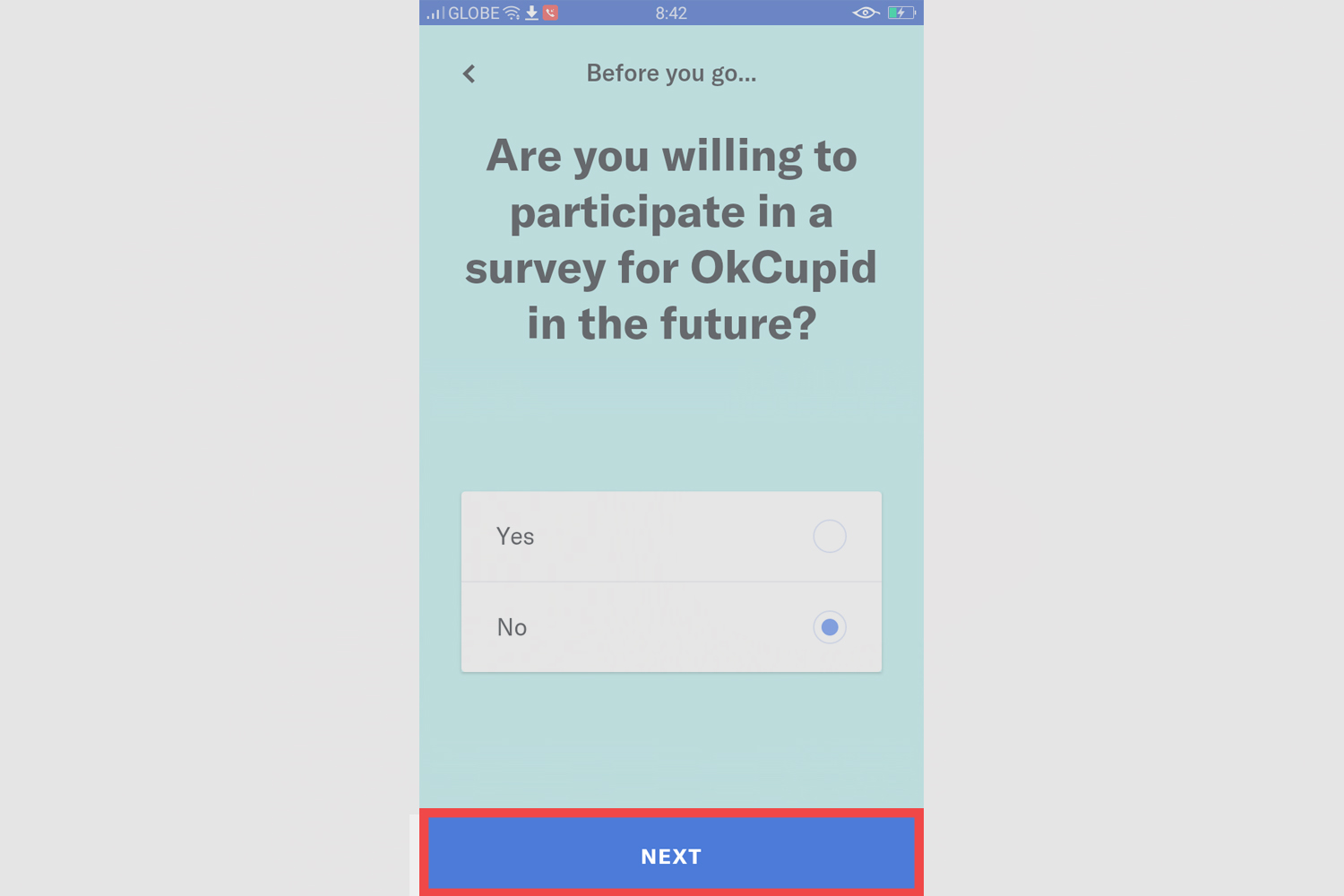 Okcupid- delete account from android. Step 7: next again