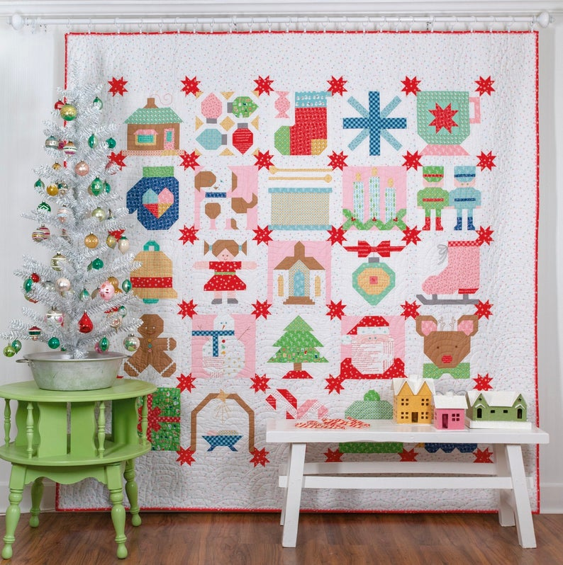 Vintage Christmas Book Quilt