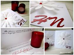 daisy flower wedding invitation