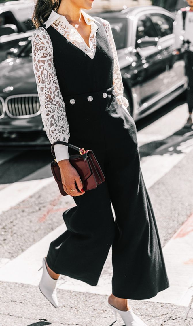 trendy looks, black and white combinations 2