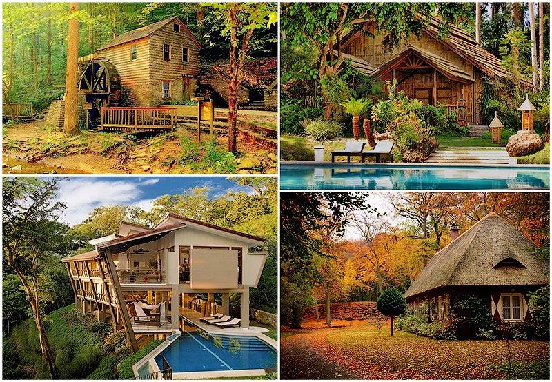 Las mejores fotografías del mundo: las más bellas casas en el bosque.