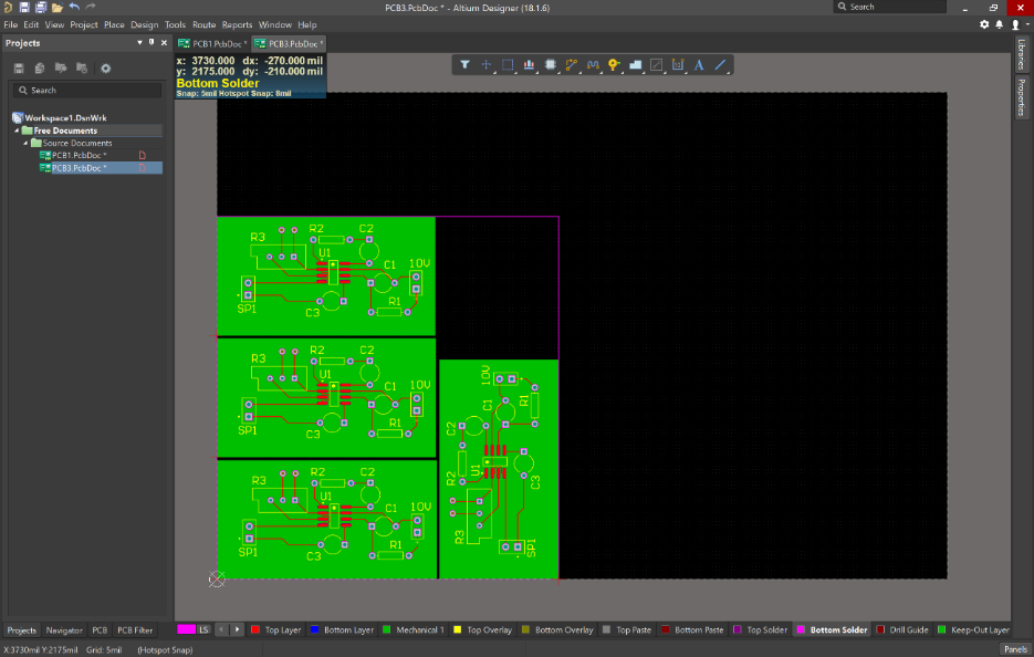 Altium  18 embedded board array