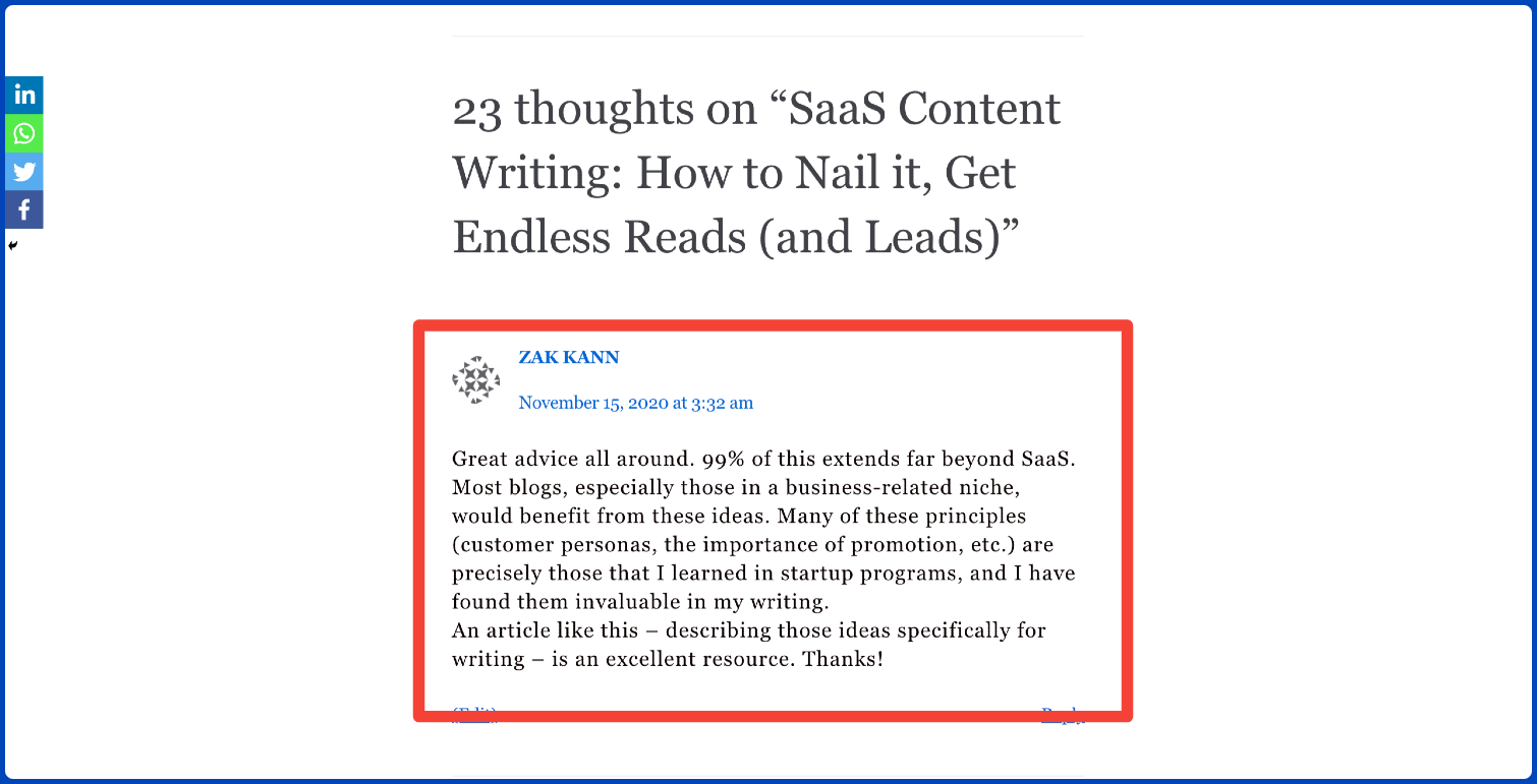 saas content writing