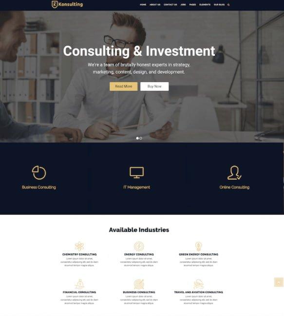 Consulting WordPress Theme Konsulting