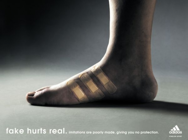 example of adidas ad heavy with semiotic interpretations.