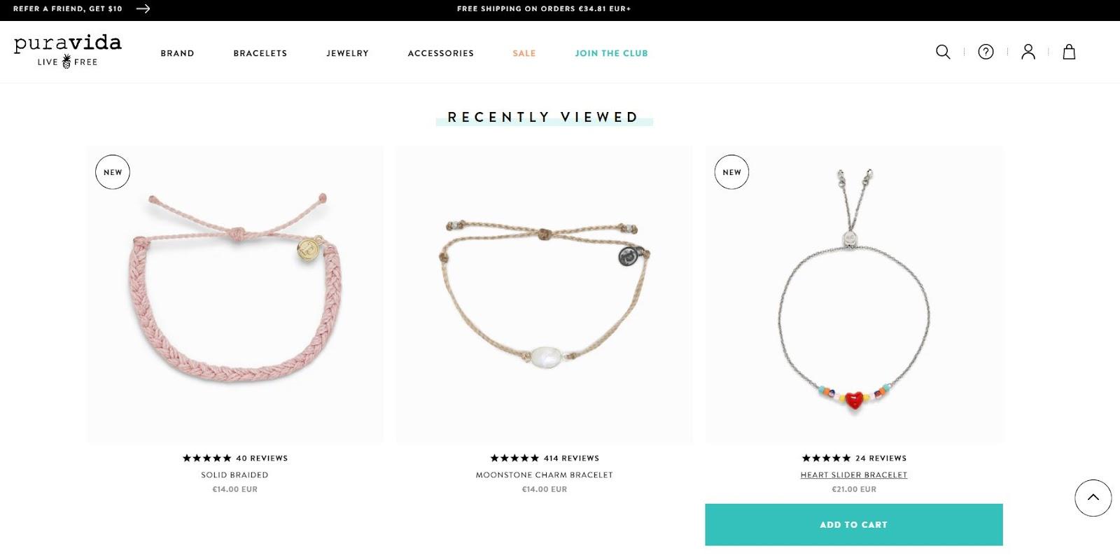 Pura Vida brand selling bracelets