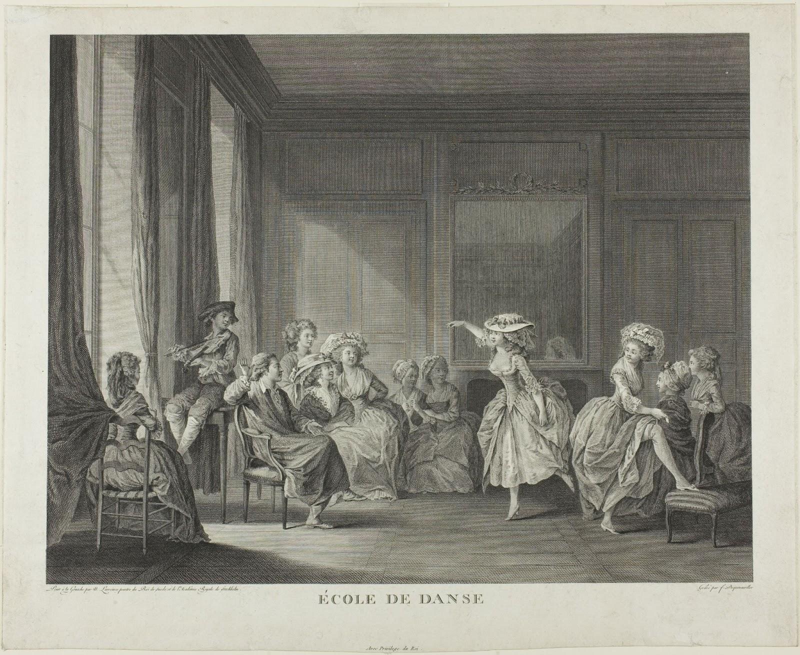 Renaissance art of a dance school.