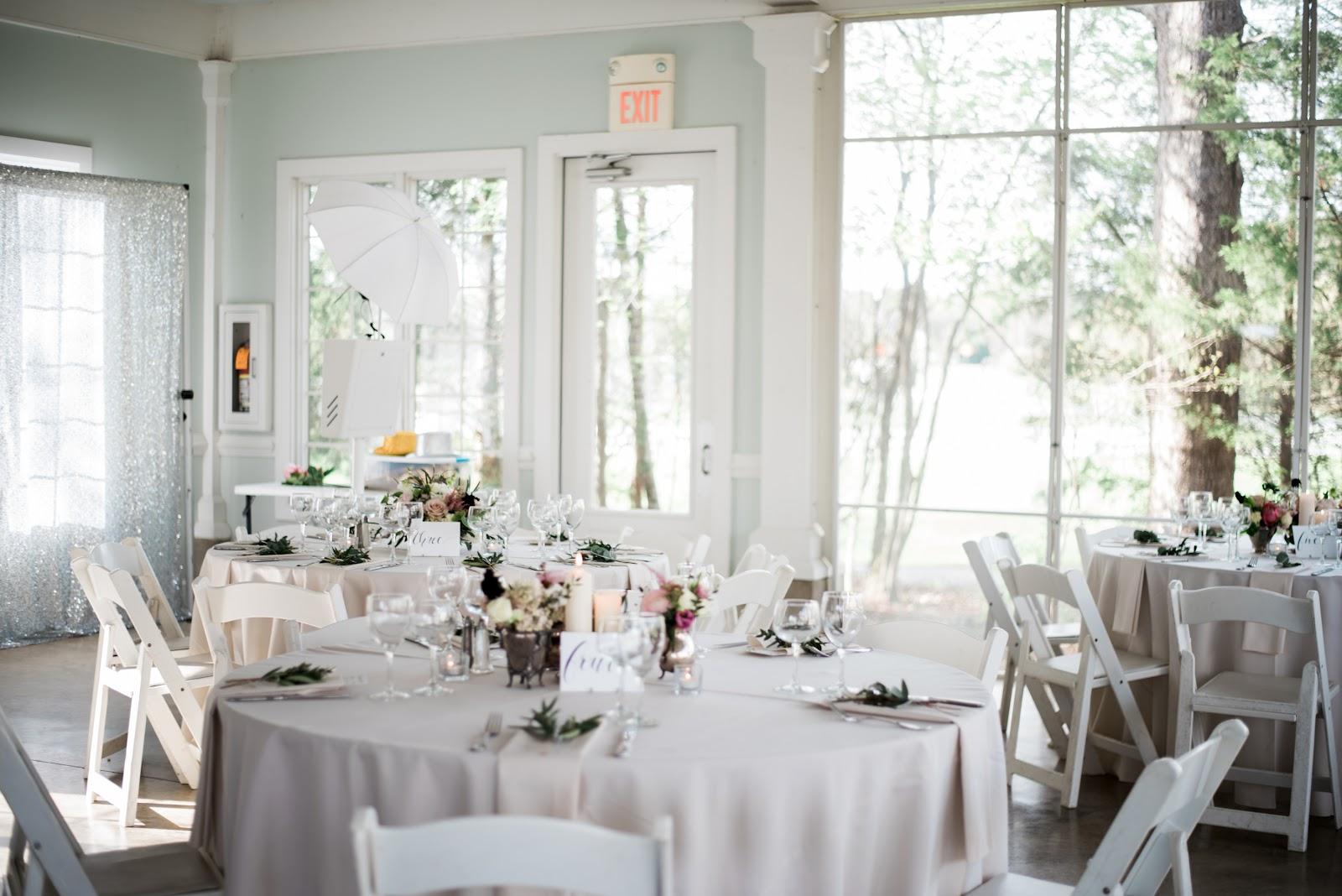 light airy wedding venue