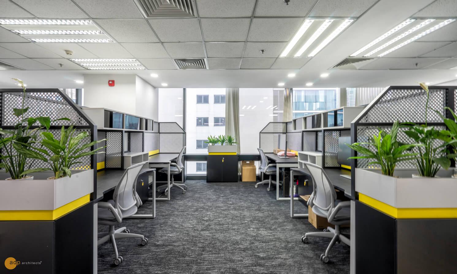 Thiết kế văn phòng làm việc đẹp với nhiều không gian xanh