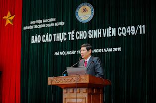 TS.Vũ Văn Ninh- Trưởng Bộ môn TCDN khai mạc đợt báo cáo thực tế