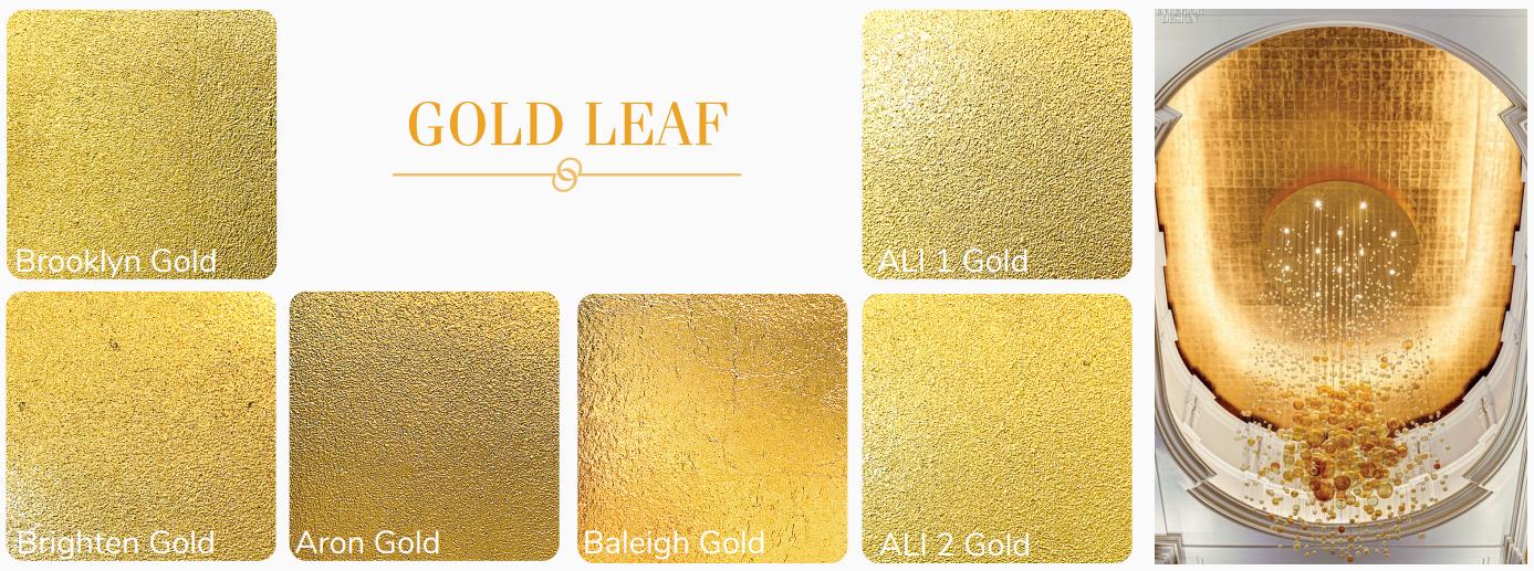 Sơn hiệu ứng Waldo - Dát vàng lá - Một vài sắc độ vàng trong nghệ thuật dát vàng lá