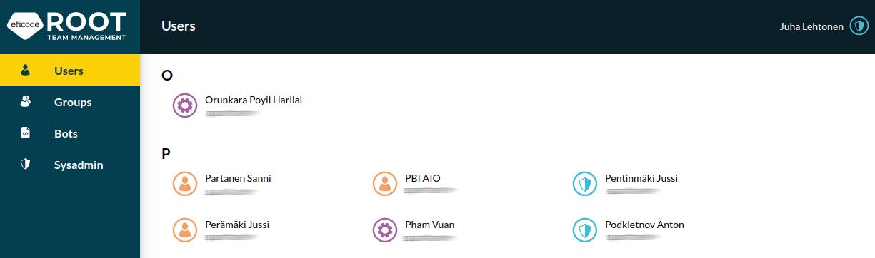 Screenshot of new platform look