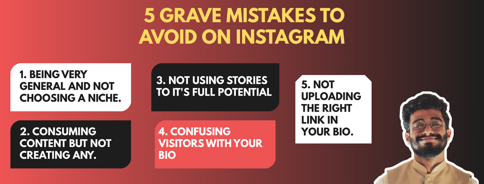 Mistakes to avoid on Instagram by Haris